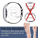 Mornex Fitbit Charge 2 Bracelet en Cuir,Bande de Remplacement Regable Sangle Rechange avec Metal Connecteurs Accessoires pour Fitbit Charge 2 de la marque Mornex image 4 produit