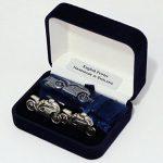 Moto boutons de manchette et Pince à cravate (diapositive) Ensemble, en étain anglais, coffret cadeau, ts2 de la marque Hoardersworld image 1 produit