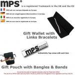 MPS® 4 bioéléments Titane bracelet magnétique avec boucle déployante et des aimants puissants, 3000 gauss chacun. Avec outil gratuit pour enlever liens. de la marque MPS image 1 produit