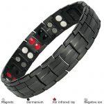 MPS® 4 bioéléments Titane bracelet magnétique avec boucle déployante et des aimants puissants, 3000 gauss chacun. Avec outil gratuit pour enlever liens. de la marque MPS image 2 produit