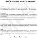 MPS® 4 bioéléments Titane bracelet magnétique avec boucle déployante et des aimants puissants, 3000 gauss chacun. Avec outil gratuit pour enlever liens. de la marque MPS image 6 produit