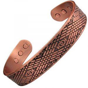 MPS Bracelet jonc, Bracelet magnétique en cuivre, Avec six aimants--#N-BAC-1065-C-MJUK de la marque MPS image 0 produit