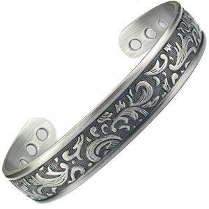 MPS® Bracelet jonc, Bracelet magnétique en étain, Avec six aimants--#N-BAC-49-AS-MJUK de la marque MPS image 0 produit