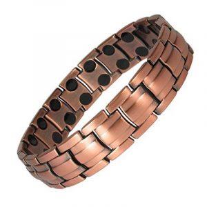 MPS® Bracelet magnétique riche en cuivre avec de puissantes 3000 gauss aimants néodyme. Avec outil gratuit pour enlever liens. de la marque MPS image 0 produit