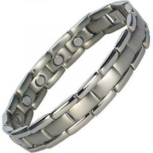 MPS POLARIS Bracelet magnétique en titane, deux aimants puissants par lien + Outil gratuit pour enlever les liens. Avec outil gratuit pour enlever liens. de la marque MPS image 0 produit
