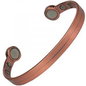 MPS® Super fort, Bracelet magnétique bio en cuivre, Bracelet jonc, Avec des aimants massifs--#N-BACS-20-MJUK de la marque MPS image 0 produit