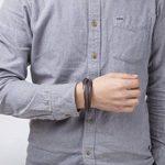 Murtoo Homme Acier inoxydable Bracelet Multi Tissé Noir ou Marron Pour Les Hommes de la marque Murtoo image 2 produit