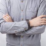 Murtoo Homme Acier inoxydable Bracelet Multi Tissé Noir ou Marron Pour Les Hommes de la marque Murtoo image 3 produit