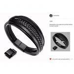 Murtoo Homme Acier inoxydable Bracelet Multi Tissé Noir ou Marron Pour Les Hommes de la marque Murtoo image 6 produit
