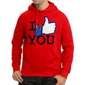 N4370H Sweatshirt à capuche manches longues I like You de la marque lepni.me image 0 produit
