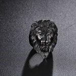 NELSON KENT Hommes Dominateur Acier Au Titane Tête De Lion Bague de la marque NELSON KENT image 1 produit