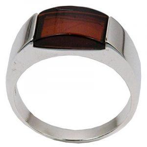 Noda bague en ambre cerise et argent 925/1000 rectangulaire homme taille 51.5 de la marque image 0 produit