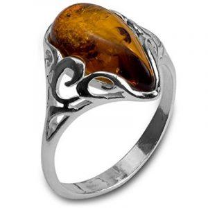 Noda bague Goutte pour femme en argent 925 et ambre de la marque Noda image 0 produit