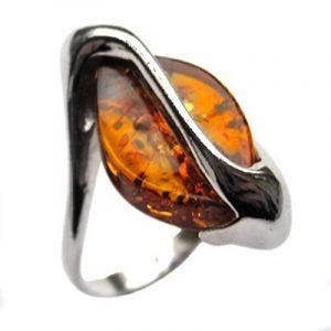 Noda bague Marquise inventive pour femme en argent 925 et ambre miel de la marque Noda image 0 produit