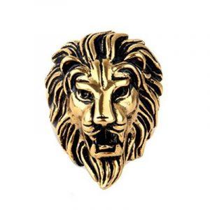 OAKKY Acier inoxydable Bijoux pour Homme Dominateur de Tête de Lion Bagues, Cru de la marque OAKKY image 0 produit