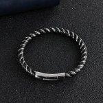 OBSEDE Cuir D'unité Centrale Tricot Chaîne D'acier Inoxydable Fermoir Magnétique Bracelet de la marque OBSEDE image 5 produit