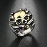 OBSEDE Homme Crâne OS Main Bague Golden Skull Bagues Acier Inoxydable Bijoux de la marque OBSEDE image 1 produit