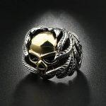 OBSEDE Homme Crâne OS Main Bague Golden Skull Bagues Acier Inoxydable Bijoux de la marque OBSEDE image 2 produit