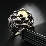OBSEDE Homme Crâne OS Main Bague Golden Skull Bagues Acier Inoxydable Bijoux de la marque OBSEDE image 4 produit