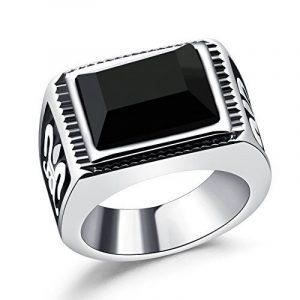 OBSEDE Totem De Feu Hommes Sculptent Noir Diamant Bague En Inox Poli Élevé de la marque OBSEDE image 0 produit