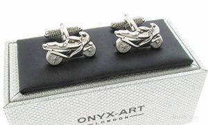 Onyx - Art Boutons de manchettes Design moto de course Coffret cadeau Onyx Art de la marque Onyx Art image 0 produit