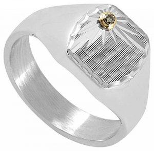Orleo - REF10952BB : Chevalière Homme Argent et Diamant - Fabriqué en France de la marque Orleo image 0 produit