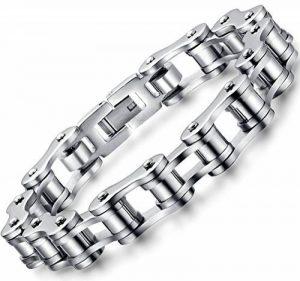 Ostan Bijoux Hommes Gothique 316L Acier Inoxydable Cuff Bracelet Bangle - Nouveaux Fashion Bijoux Hommes Bracelets, Argent de la marque Ostan image 0 produit