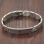 Ostan Bijoux Hommes Gothique 316L Acier Inoxydable Cuff Bracelet Bangle - Nouveaux Fashion Bijoux Hommes Bracelets, Argent de la marque Ostan image 3 produit