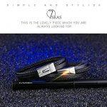 OSTAN Bijoux pour Hommes Bracelet 316L Acier Inoxydable en Cuir Gothique Bracelet - Noir de la marque OSTAN image 3 produit