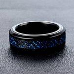 PAURO Homme Acier Inoxydable Noir 8Mm Bague Peut Tourner Dragon Celtique Bleu Fibre De Carbone Anneau de la marque PAURO image 3 produit