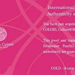 Pearls & Colors - Pendentif Seul (Sans Chaîne) - Or Jaune 18 Cts - Perle de Culture d'Eau Douce - Pc-pc2-wh de la marque Pearls & Colors image 1 produit