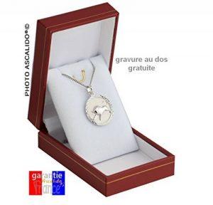 pendentif astro signe zodiac TAUREAU médaille et chaine en argent massif avec boite pour offrir. Gravure personnalisée possible de la marque ASCALIDO image 0 produit