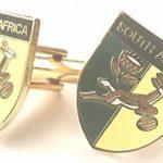 personnalisé Afrique du Sud Printemps Boks Rugby en émail Boutons de manchette Huppé (N91) de la marque Emblems-Gifts image 1 produit