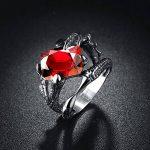 PMTIER Hommes Acier Inoxydable Griffes de Dragon Rubis Pierre Bague de la marque PMTIER image 5 produit