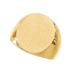 Pour homme Or jaune massif 14 carats Chevalière 20 x 17 mm T 1/2–JewelryWeb de la marque JewelryWeb image 0 produit