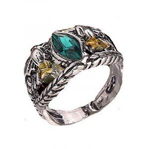 rgrn–Bague Aragorn le seigneur des anneaux avec pierre verde- idée cadeau pour homme de la marque Fashion Jewerly image 0 produit