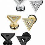 Sailimue 3-4Paires Acier Inoxydable Boucle d'Oreille Triangle pour Homme Femme Piercing Oreille Clou de la marque Sailimue image 1 produit