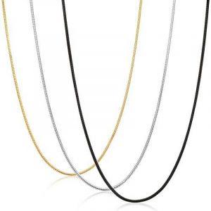 Sailimue 3PCS 0.9mm Acier Inoxydable Collier pour Homme Femme Chaîne Serpent Collier Ensemble, 35-91cm de la marque Sailimue image 0 produit