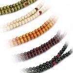 Sailimue 4-5Pcs 8MM Bois Bracelet Boule pour Homme Femme Collier Bouddhiste Chapelet Bracelet Ensemble Elastique de la marque Sailimue image 2 produit