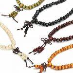 Sailimue 4-5Pcs 8MM Bois Bracelet Boule pour Homme Femme Collier Bouddhiste Chapelet Bracelet Ensemble Elastique de la marque Sailimue image 3 produit