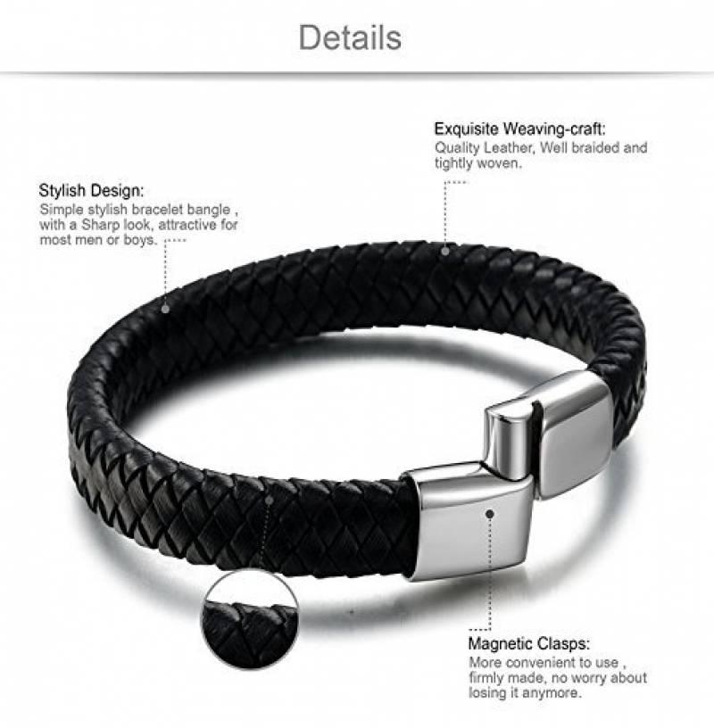 bracelet cuir noir pour homme comment choisir les. Black Bedroom Furniture Sets. Home Design Ideas