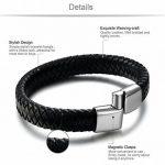 Sailimue Acier Inoxydable Bracelet Cuir pour Homme Bracelet Tressé Fermoir Magnétique 19.5-22cm de la marque Sailimue image 1 produit