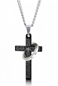 Sailimue Acier Inoxydable Croix Collier pour Homme Femme Prière Collier Cercle Pendentif 61cm 3 Couleurs de la marque Sailimue image 0 produit
