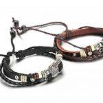 Sailimue Cuir Bracelet pour Homme Tressé Bracelet Ouvert Ajustable, 19-28cm de la marque Sailimue image 1 produit