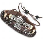 Sailimue Cuir Bracelet pour Homme Tressé Bracelet Ouvert Ajustable, 19-28cm de la marque Sailimue image 2 produit