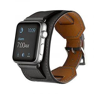 Sanday Bracelet de montre pour Apple Watch Sangle en cuir véritable Option 38mm et 42mm de la marque Sanday® image 0 produit