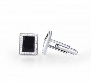 Signore-Signori® Noir Swarovski Elements Cristal Boutons de Manchette Or Blanc Plaqué Bijoux de la marque Signore-Signori® image 0 produit