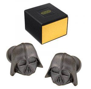 Star Wars Boutons de manchette Dark Vador 3d Noir mat Imperial Logo Dos dans une boîte cadeau de la marque Star Wars image 0 produit