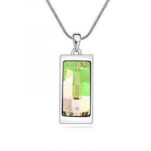 Swarovski Elements Champagne Collier pendentif en or blanc 18 carats - cadeau idéal pour les femmes et les filles - est livré dans une boîte-cadeau de la marque Galaxy Jewellery image 0 produit