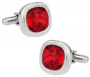 Swarovski Siam Cristal Rouge Boutons de manchette de la marque Cuff Daddy image 0 produit
